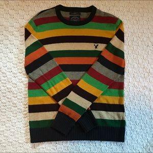 American Eagle Sweater / Colorful Stripes
